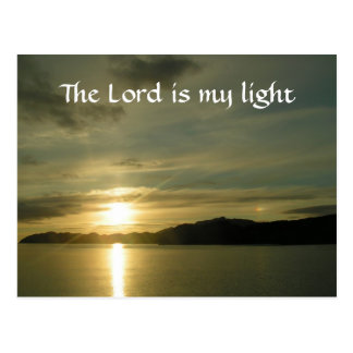 Sunrise - the Lord is my light Postcard