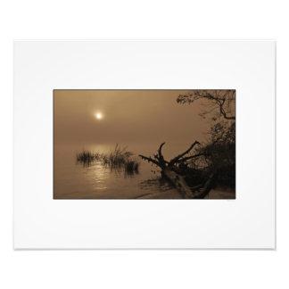 Sunrise through Fog on Winyah Bay Photo Print