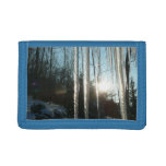 Sunrise Through Icicles Winter Nature Photography Tri-fold Wallets
