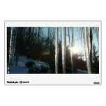 Sunrise Through Icicles Winter Nature Photography Wall Sticker