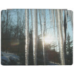 Sunrise Through Icicles Winter Photography iPad Cover