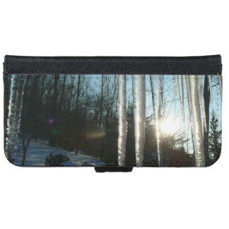 Sunrise Through Icicles Winter Photography iPhone 6 Wallet Case