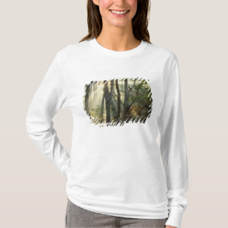 Sunrise through oak and hickory forest, T-Shirt