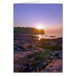 Sunrise Through Split Rock Greeting Card