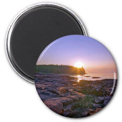 Sunrise Through Split Rock Magnets