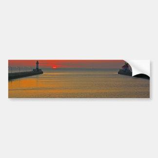 Sunrise through the Canal Bumper Sticker