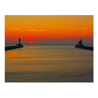 Sunrise through the Canal Postcard