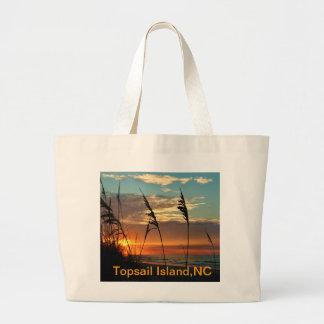 Sunrise Through the Dunes Large Tote Bag
