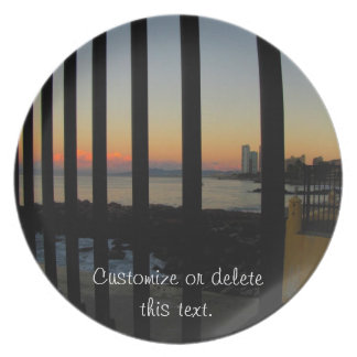 Sunrise Through the Gate; Customizable Plate