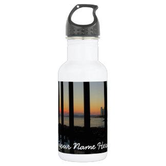 Sunrise Through the Gate; Customizable Water Bottle