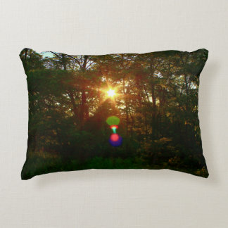 Sunrise Through The Trees Decorative Pillow