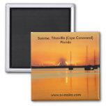 Sunrise, Titusville (Cape Canaveral) Florida 2 Inch Square Magnet