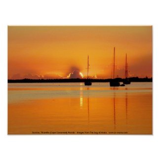 Sunrise, Titusville (Cape Canaveral) Florida Poster