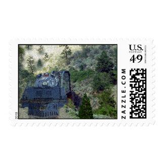 Sunrise Train Stamp