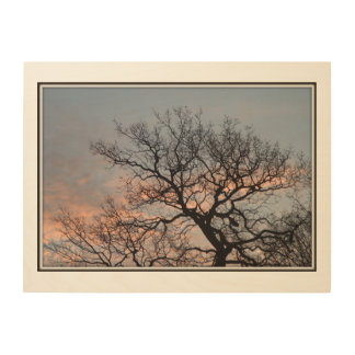 Sunrise tree wood wall art