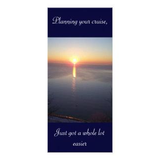 Sunrise vacation rack card