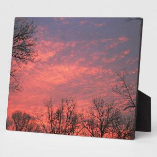 Sunrise w/  vivid Clouds Plaques