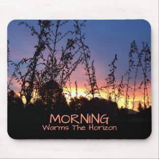 Sunrise Warms The Horizon Between Wildflower Mouse Pad