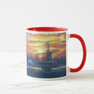 Sunrise Windmill Painting Mug