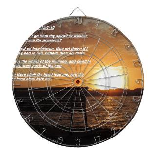 sunrise with bible verse dart boards