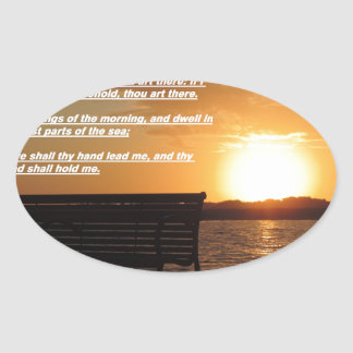 sunrise with bible verse oval sticker