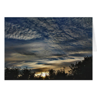 Sunrise With Cirrocumulus Floccus Clouds Card