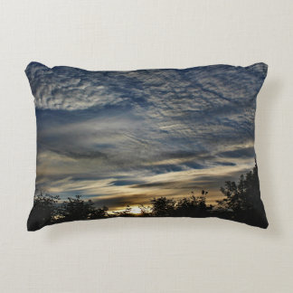Sunrise With Cirrocumulus Floccus Clouds Decorative Pillow