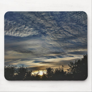 Sunrise With Cirrocumulus Floccus Clouds Mouse Pad