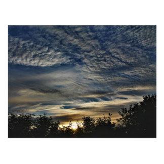 Sunrise With Cirrocumulus Floccus Clouds Postcard