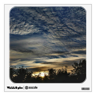 Sunrise With Cirrocumulus Floccus Clouds Wall Decal