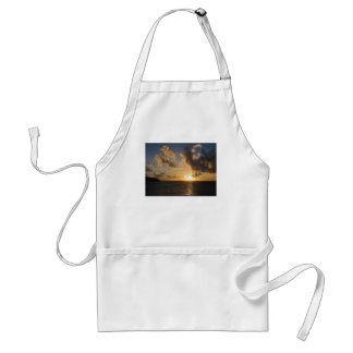 Sunrise With Clouds St. Martin Adult Apron