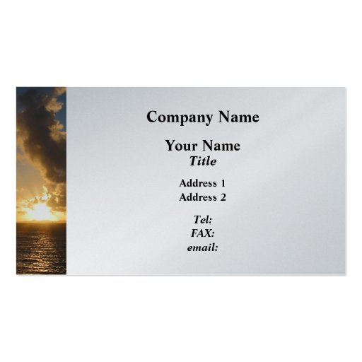 Sunrise With Clouds St. Martin Business Card