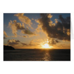 Sunrise With Clouds St. Martin Cards