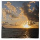 Sunrise With Clouds St. Martin Ceramic Tile