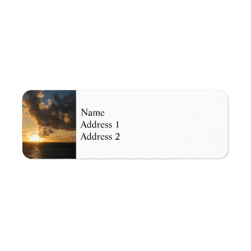 Sunrise With Clouds St. Martin Custom Return Address Labels