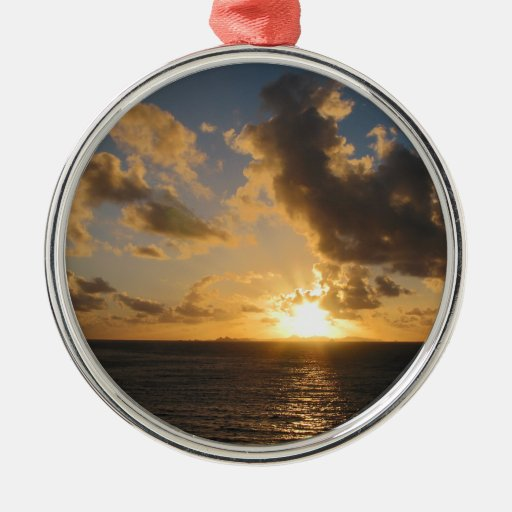 Sunrise With Clouds St. Martin Christmas Tree Ornaments
