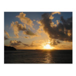 Sunrise With Clouds St. Martin Post Cards
