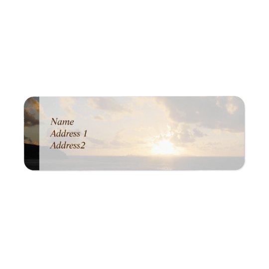Sunrise With Clouds St. Martin Save the Date Label