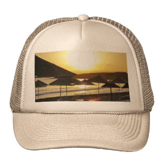 Sunrise with Greece Beach Mesh Hat