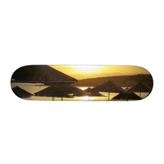 Sunrise with Greece Beach Skate Deck