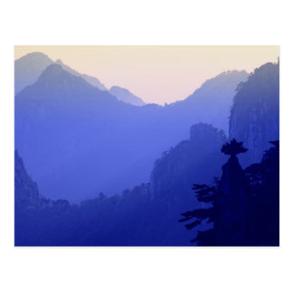 Sunrise, Yellow Mountain, Huangshan, China Postcard