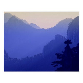 Sunrise, Yellow Mountain, Huangshan, China Print