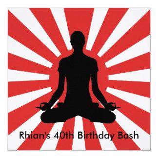 Sunrise Yoga style Birthday invitation