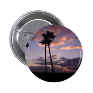 Sunrises Palm Trees 2 Inch Round Button