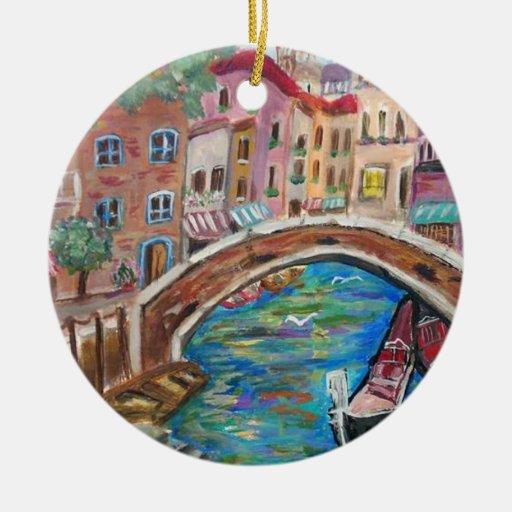 Sunrive in Venice Art Ornament