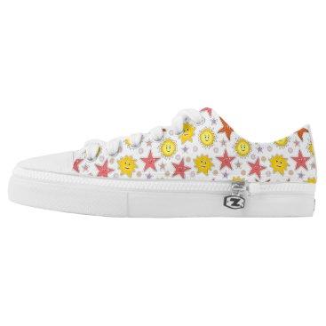 Beach Themed Suns and Starfish Beach Style Shoes