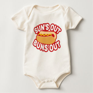Suns Out Buns Out Baby Bodysuit