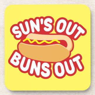 Suns Out Buns Out Beverage Coaster