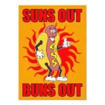 Suns Out Buns Out Hot Dog Invite