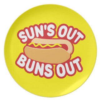 Suns Out Buns Out Melamine Plate